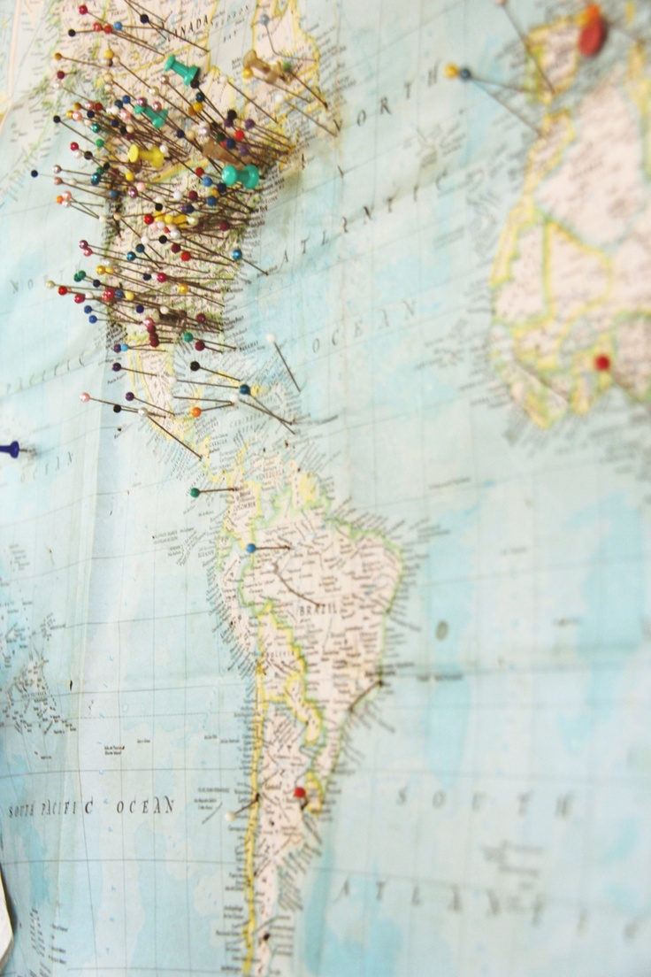 23 creative ways to decorate your home with your travels – Pin Your Travels Map