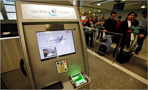 how to use nexus card at airport